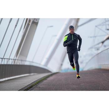 Kiprun Warm Men's Running Tights - Black/Yellow - 1226644
