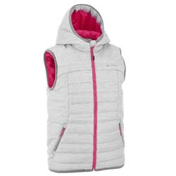 Girls' Hiking Padded Gilet Hike 500 - Light Grey