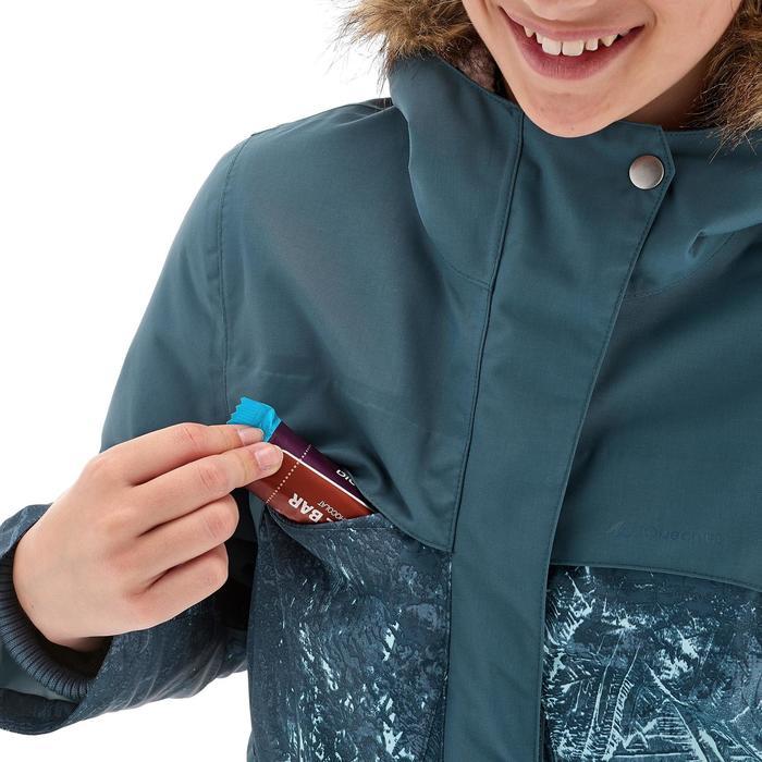Chaqueta de senderismo nieve júnior SH500 x-warm gris