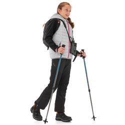 Gilet doudoune de randonnée Hike 500 fille Gris clair
