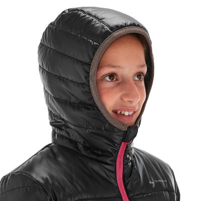 מעיל טיולים מרופד דגם MH500 לילדים בגילאי 7-15 - שחור