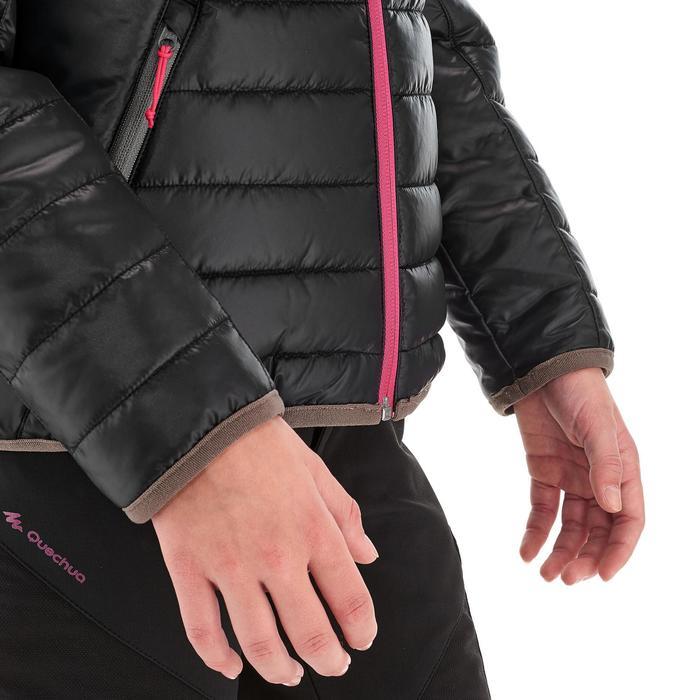 Gewatteerde wandeljas voor meisjes MH500 zwart roze