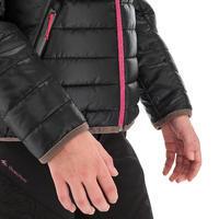 Veste rembourrée de randonnée enfant MH500 noire 7- 15 ans
