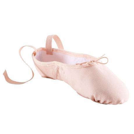 fed7a38b9e99 Split-Sole Canvas Demi-Pointe Shoes - Salmon Pink