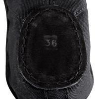 Split-Sole Canvas Demi-Pointe Shoes - Black