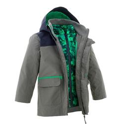 Boys' 2-6 years Snow Hiking Warm 3-in-1 Jacket SH100 - Plum