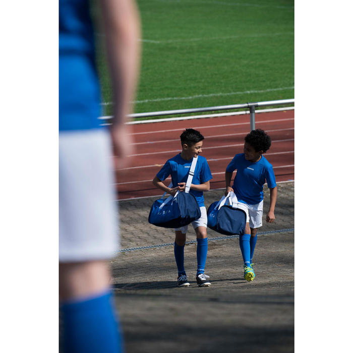Fußballshorts F100 Kinder weiß