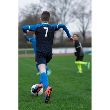 Short de football enfant F500 gris et - 1227366