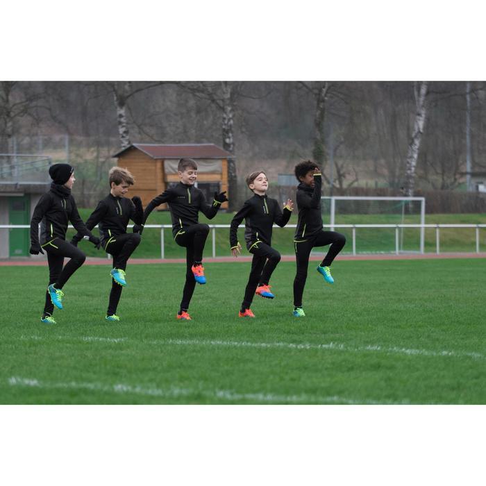 Pantalón Entrenamiento Fútbol Kipsta T500 Niños Negro Amarillo