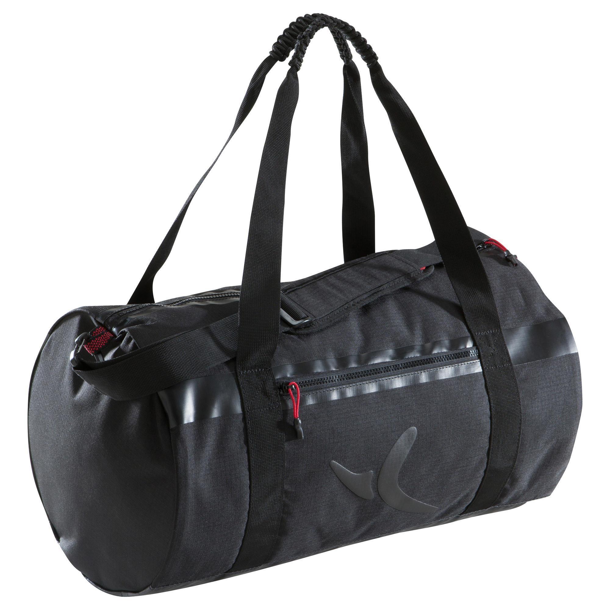 sac fitness noir feel strong m domyos by decathlon. Black Bedroom Furniture Sets. Home Design Ideas