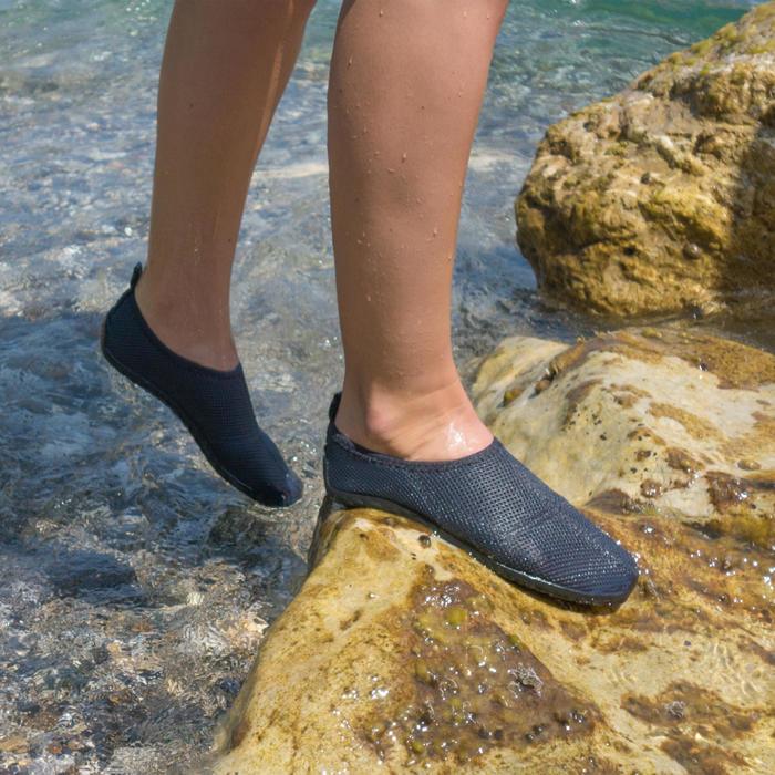 Chaussures aquatiques Aquashoes 100 gris foncé