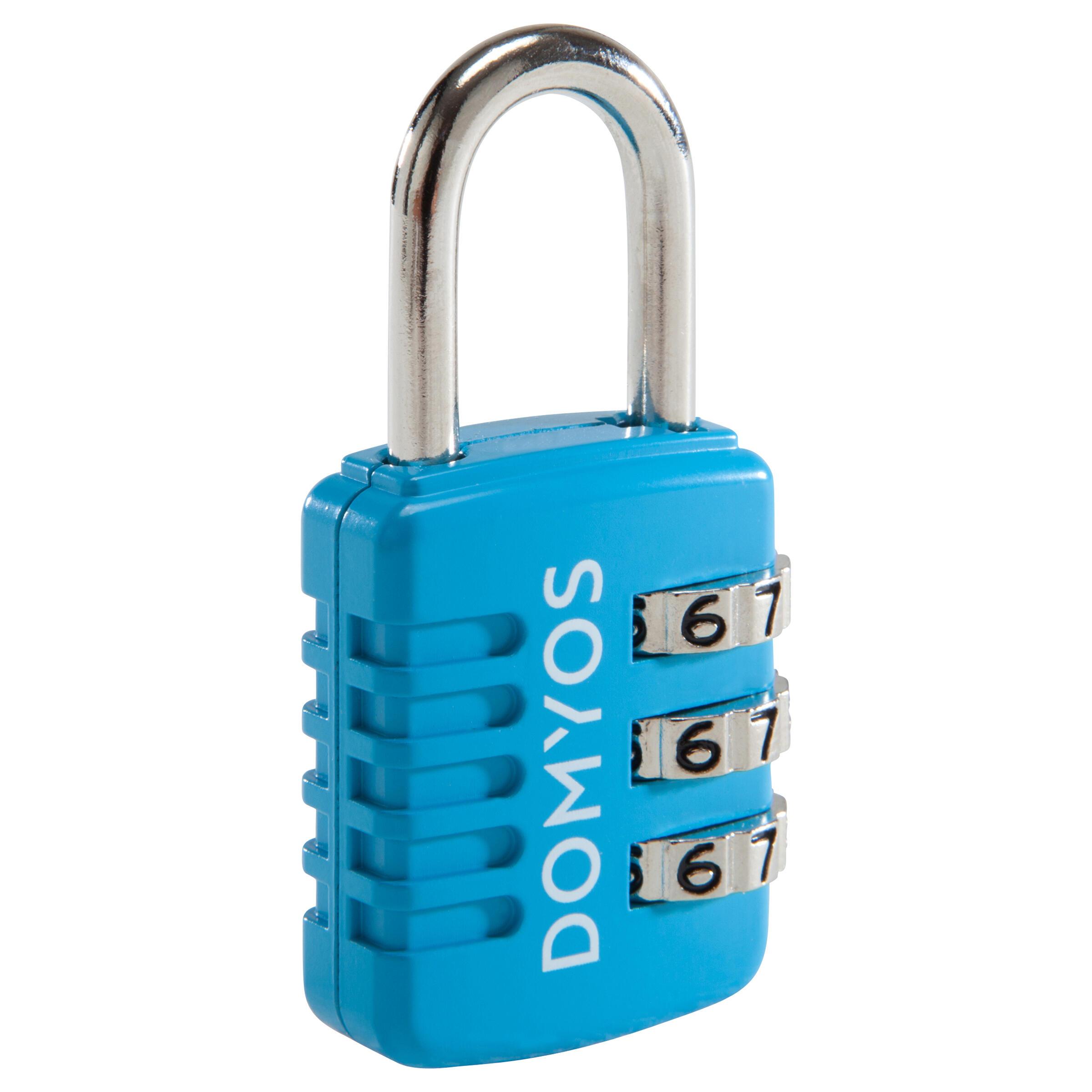 Combination Padlock - Blue By DOMYOS | Decathlon
