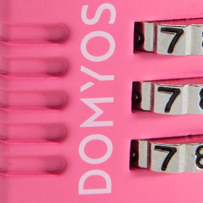 Candado Combinación Taquilla Cardio Fitness Domyos Rosa