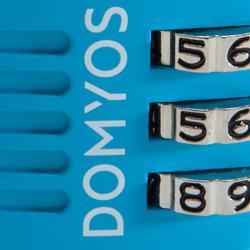 Zahlenschloss blau
