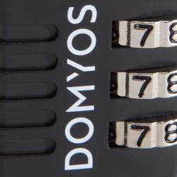 Candado Combinación Taquilla Cardio Fitness Domyos Negro