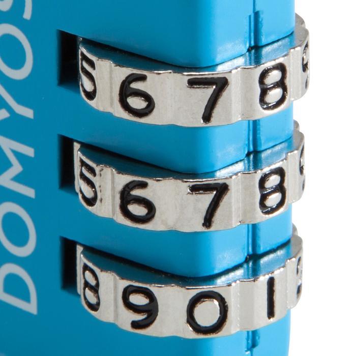 Candado de combinación azul