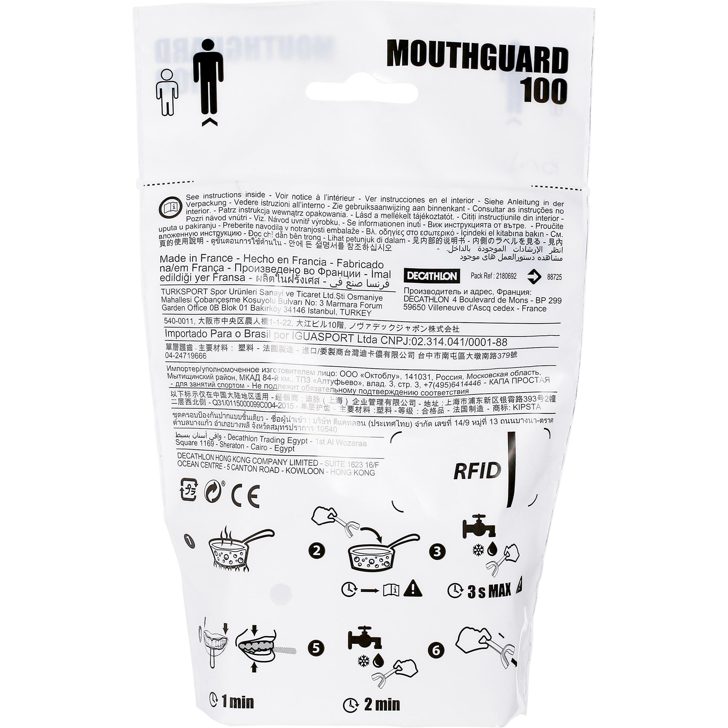 Protège-dents rugby adulte R100 transparent