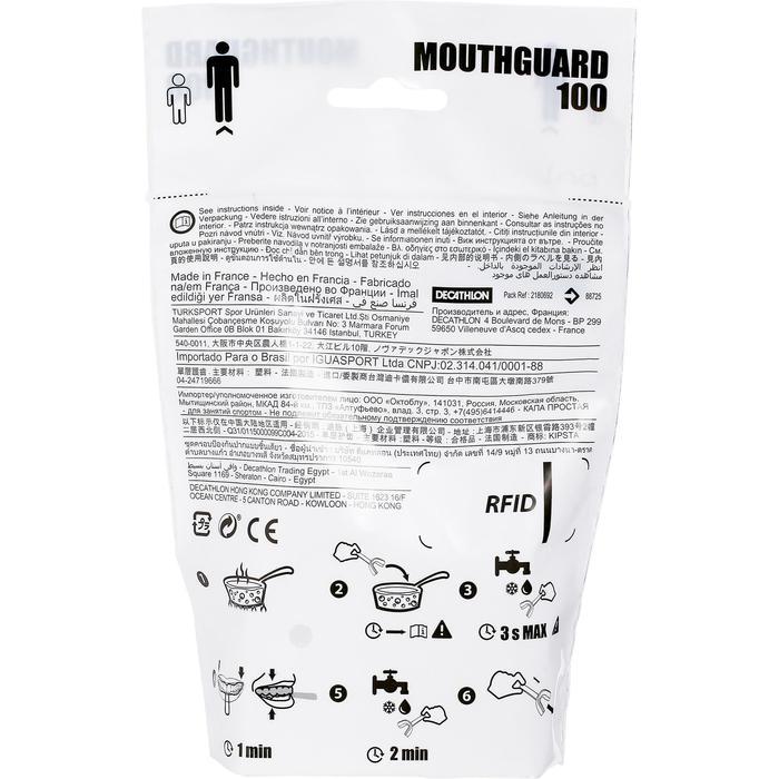 Mundschutz Rugby 100 Erwachsene transparent