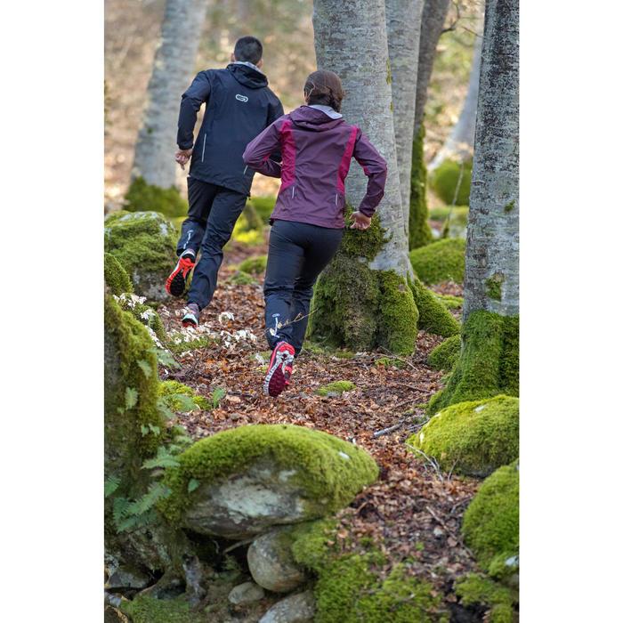 Lauf-Regenhose Trail wasserdicht Damen schwarz
