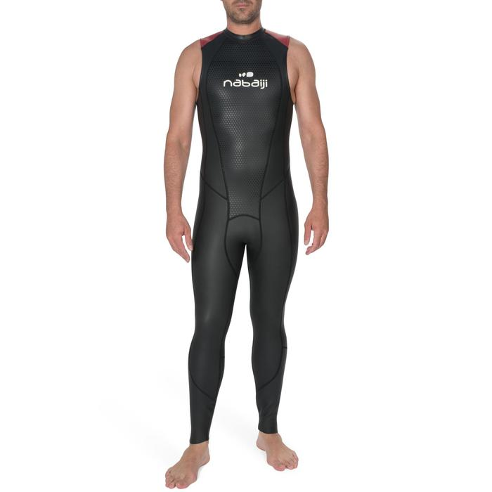 Mouwloze neopreen herenwetsuit OWS 500 2,5/2 mm gematigd warm water