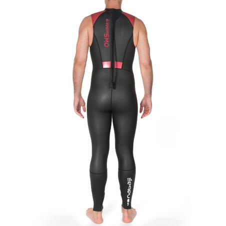 Combinaison néoprène natation sans manche ows 500 2/2 mm hommes