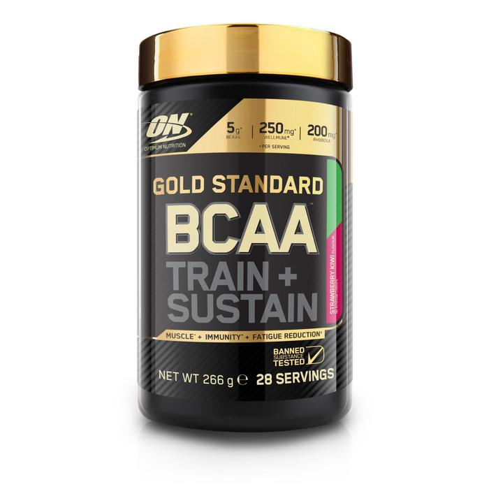 Aminoácidos BCAA train & sustain OPTIMUM NUTRITION fresa-kiwi 266 g