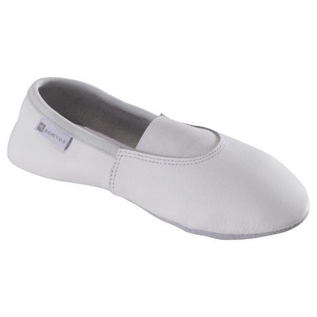 chaussons de gymnastique artistique en cuir 520 blanc. Black Bedroom Furniture Sets. Home Design Ideas