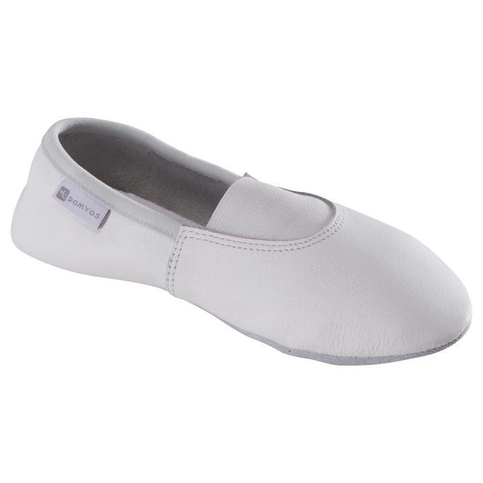 Chaussons de Gymnastique Artistique en cuir 520 blanc