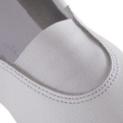 Zapatillas de Gimnasia Artística de piel 520 blanco