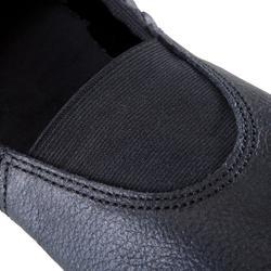 Chausson de Gymnastique Artistique en cuir 520 noir.