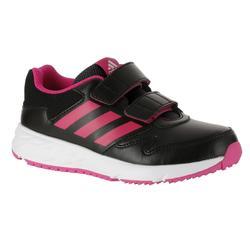 Zapatillas de marcha deportiva niños Fastwalk2 tiras autoadherentes negro / rosa