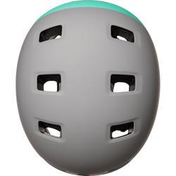 Casque patins à roulettes planche à roulettes trottinette MF540 menthe gris