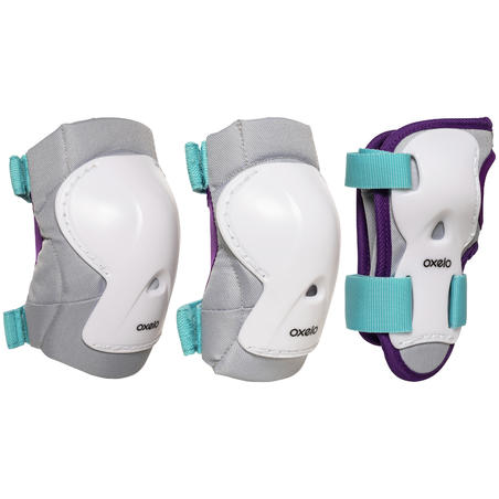 Protections roller enfant PLAY blanc turquoise