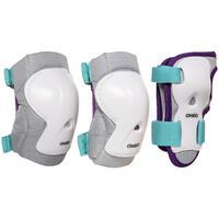 Protecciones Roller Play Niños Blanco Azul Turquesa