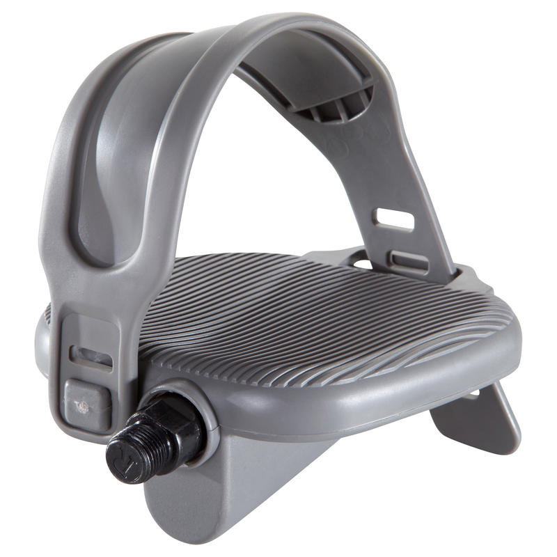 Pair of Standard Exercise Bike Pedals - Grey
