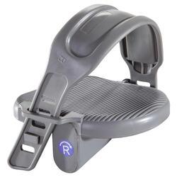 Paar pedalen standaard voor hometrainer grijs