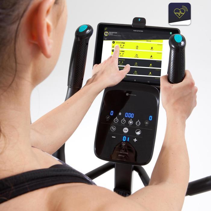 Crosstrainer E Shape+ compatibel met de app Domyos e-Connected
