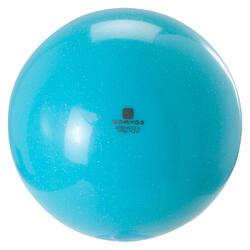 Bal voor ritmische gymnastiek (RG) 185 mm turquoise glitters