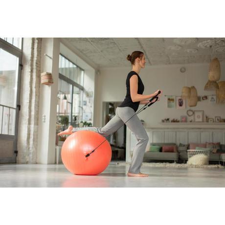 Legging fit 500 regular gym pilates femme gris chin for Gimnasio cardio pilates
