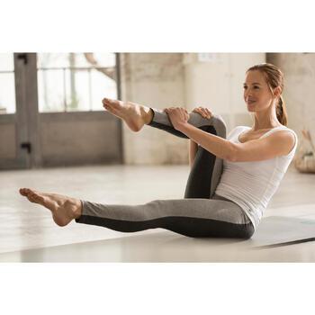 Legging Gym & Pilates femme gris moyen gris foncé - 1229488