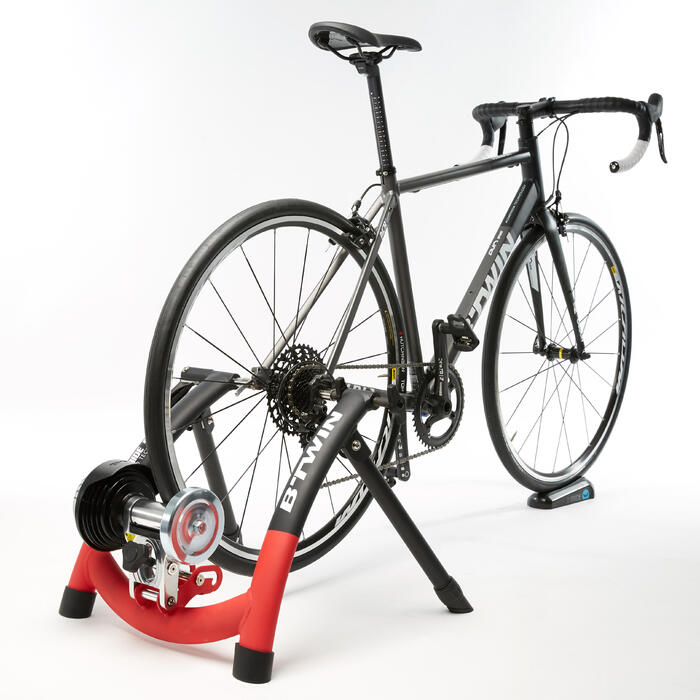Rodillo Entrenamiento Home Trainer B'twin In'Ride 500 Negro/Rojo