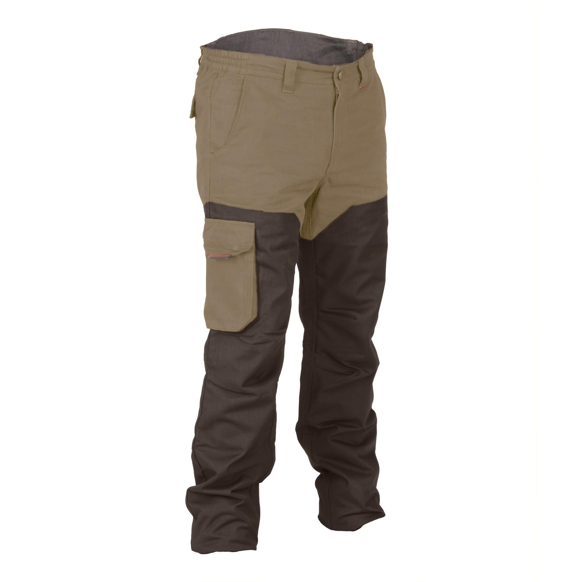 JAGDHOSE RENFORT 520 ZWEIFARBIG BRAUN   Sportbekleidung > Sporthosen > Trekkinghosen   Solognac