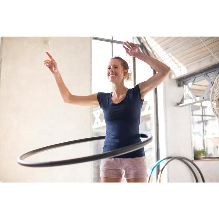 T-Shirt 500 manches longues Gym & Pilates femme printé - 1229579