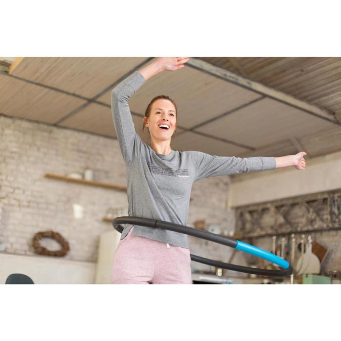 T-Shirt 500 manches longues Gym & Pilates femme printé - 1229582