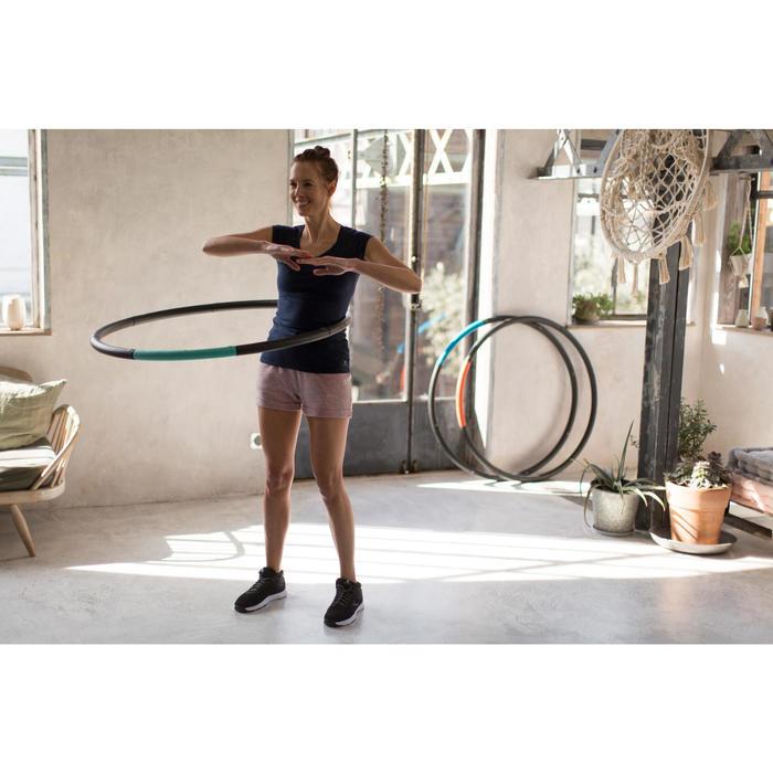 T-Shirt 500 manches longues Gym & Pilates femme printé - 1229583