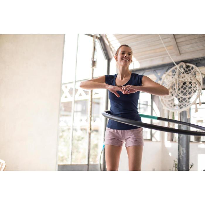T-Shirt 500 manches longues Gym & Pilates femme printé - 1229584