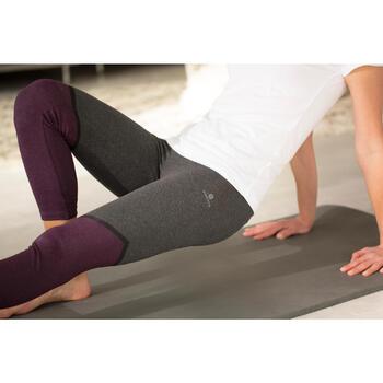 7/8-legging Fit+ voor dames, gym en pilates, slim fit, bordeaux en grijs