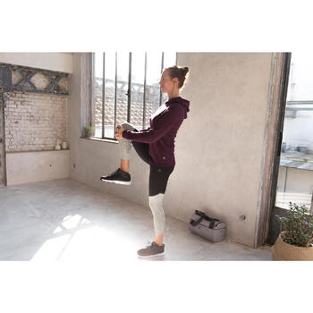 Legging 7/8 FIT+ 500 slim Gym & Pilates femme noir - 1229636