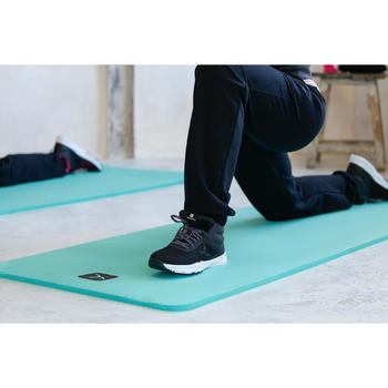 Damesbroek 500 voor gym en stretching regular fit zwart