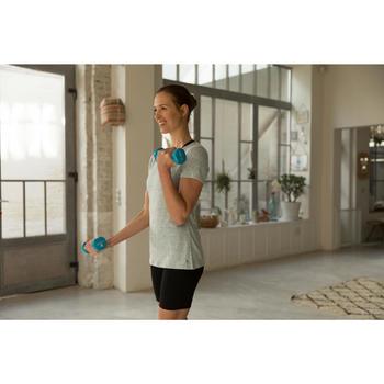 T-Shirt 500 régular manches courtes Gym & Pilates femme chiné - 1229731